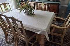 1920's Antique distressed dining table and chairs in Fairfax, Virginia