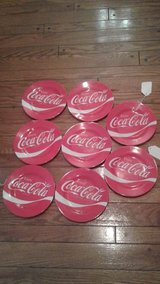 Set of 8 Melamine Collectable Coke Plates in Fairfax, Virginia
