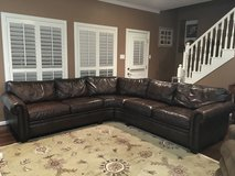 Leather sectional sofa in Kingwood, Texas