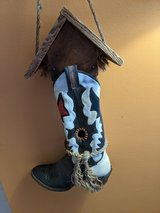 Unique Real Boot Bird House in Fort Bliss, Texas