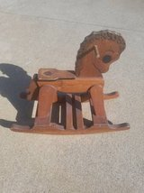 Wooden Rocking Horse in Fort Campbell, Kentucky