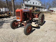 Allis Chalmers B with Woods belly mower in Rolla, Missouri