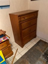 Brown dresser with two night stands in Baumholder, GE