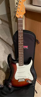 Squire Fender guitar and vox amp in Baytown, Texas