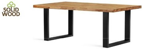 United Furniture - Solid Wood Dining Table Falco with 6 Chairs Dallas including delivery in Grafenwoehr, GE
