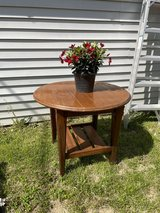 Dark brown wood  end  table or patio in Plainfield, Illinois