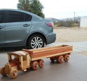 Vintage 1930's Handmade Wooden Box Tractor Trailer in 29 Palms, California