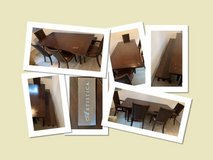 XL Dining Table, 4 Chairs & Bench - Price Cut Again in Ramstein, Germany