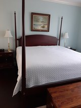 King poster bed frame - solid wood in Beaufort, South Carolina