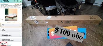 """Zinus 12"""" wood Twin bed, NEW IN BOX in Camp Pendleton, California"""