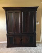 Solid Wood Entertainment Center in Lawton, Oklahoma