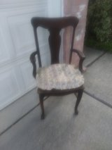 Antique oak side chair from late 1800's in Spring, Texas