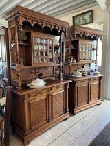 gorgeous Art Nouveau dining room hutch in Ansbach, Germany