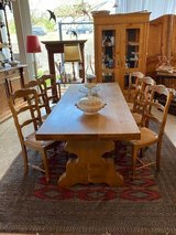 solid oak monastery table with 6 chairs in Ansbach, Germany