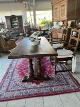 rustic French farm house table in Spangdahlem, Germany