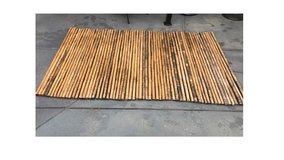 Bamboo Fence (8' W x 5' H) in Camp Pendleton, California
