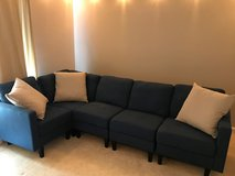 Navy Blue Fabric 5-Seater Sectional in Fort Belvoir, Virginia