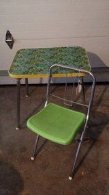 Retro Children's Green Table and Chair in Glendale Heights, Illinois