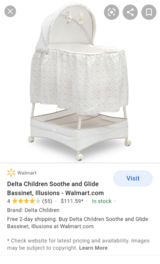 Delta Children's Soothe and Glide Bassinet, Illusions in Fort Polk, Louisiana