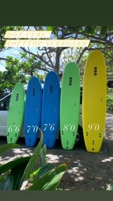 Softtop Surfboard  Brand New 7'6 inc Fin and Leash in Okinawa, Japan