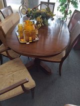 Dining Table, 6 chairs, 3 Leaves and Pads in St. Charles, Illinois