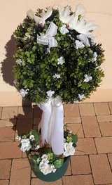 Noble artificial boxwood tree for communion, baptism, wedding in Spangdahlem, Germany