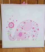 Pretty in pink Elephant canvas art in Plainfield, Illinois