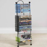 NEW DVD Tower Rack Wall Mount Stand Steel CD Holder Movie Video Game Storage Display in Joliet, Illinois