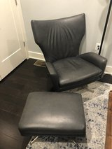 West Elm Leather Chair + Ottoman in Fort Belvoir, Virginia