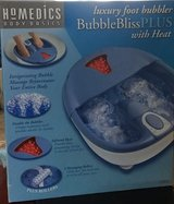 HoMedics luxury foot bubbler with heat in Chicago, Illinois