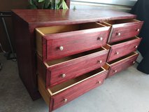 Precious real thick solid wood dresser with 6 drawers in good shape and conditions in Fort Bliss, Texas