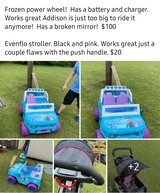 Power wheels and stroller in Lawton, Oklahoma
