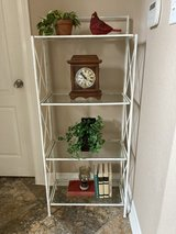 Iron distressed white  folding shelving unit in The Woodlands, Texas