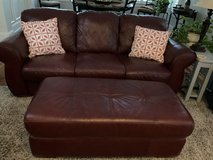 Leather Sofa, recliner and ottoman in Beaufort, South Carolina