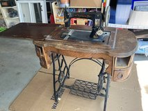 Antique Sewing Machine Table with Working Machine in Westmont, Illinois