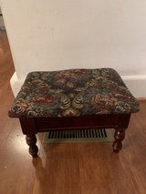 stool wood with storage tapestry fabric in Norfolk, Virginia
