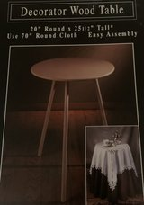 tables wood with glass & skirt in Norfolk, Virginia