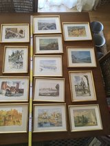 13 gorgeous french vintage frames with landscapes in Ramstein, Germany