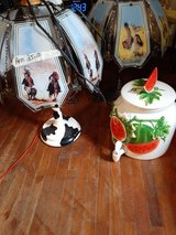 Big Watermelon ??serving ceramic container &Cowboy &Western Touch Lamps in Fort Polk, Louisiana