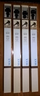(4 NEW IN BOX DRAPERY ROD SETS) GET A DEAL!!! in Quantico, Virginia