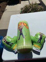 Chuck E Cheese Punching Bag & Gloves in Joliet, Illinois