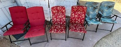 Folding Chairs w/cushions (3 sets of 2 = 6) in 29 Palms, California