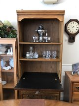 Oak Cabinet with Fold-down, Lighted Desk in St. Charles, Illinois