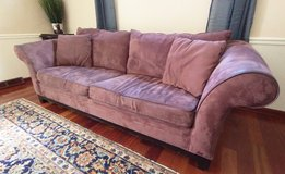 Microsuede Plum Couch - Great sleeper! in St. Charles, Illinois