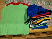 Shirts ??size 10/12 large kids17 shirts brand is wonder nation and 1 pair of 10/12  shorts in Fort Leonard Wood, Missouri