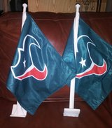 Texans car flags in The Woodlands, Texas