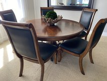 Solid Wood Dining Table with 6 Large Chairs in Fort Lewis, Washington