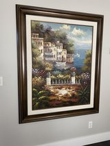 Italian Villa Painting with Solid Wood Frame in Fort Lewis, Washington