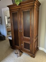 Solid Wood Wardrobe or Entertainment Unit in Fort Lewis, Washington