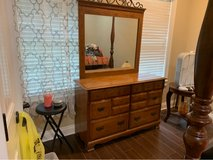 all wood Dresser and mirror in Fort Polk, Louisiana